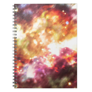 Abstract Starry Background 5 Spiral Notebook