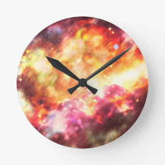 Abstract Starry Background 5 Wall Clocks