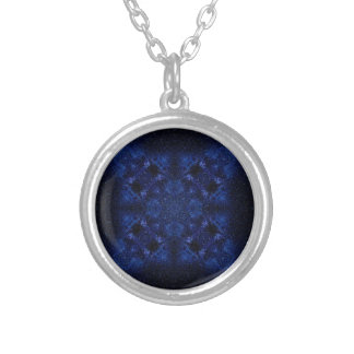 Abstract Starry Sky Silver Plated Necklace