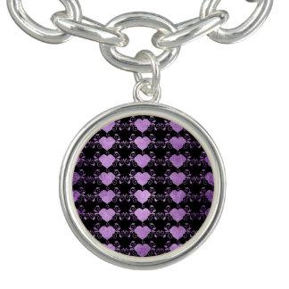 Abstract Steampunk Heart Charm Bracelets