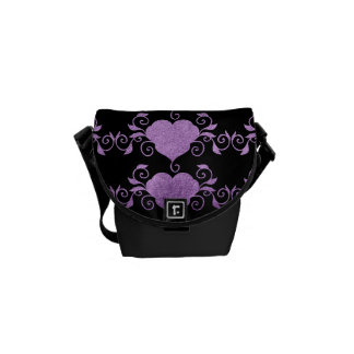Abstract Steampunk Heart Courier Bags