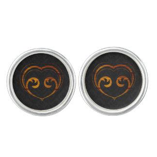 Abstract Steampunk Heart Cufflinks
