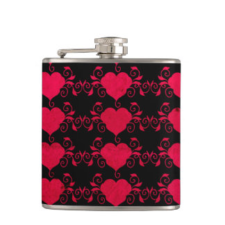Abstract Steampunk Heart Flask