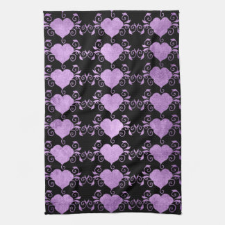 Abstract Steampunk Heart Hand Towel
