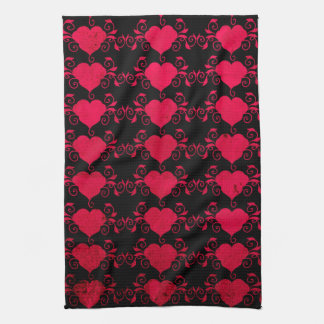 Abstract Steampunk Heart Kitchen Towel