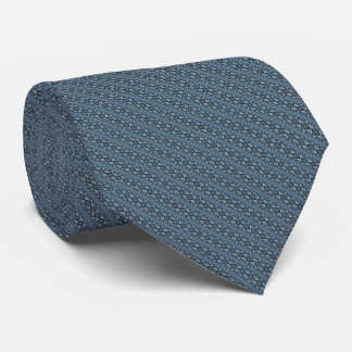 Abstract Steel Grey Geometric Striped Pattern Tie