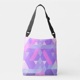 abstract stock market pink crossbody bag