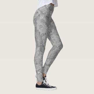 Abstract Stone Watercolor Print Leggings