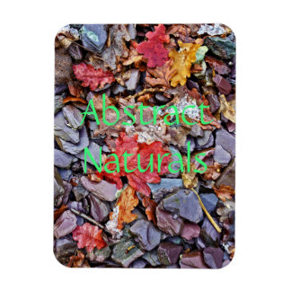 Abstract Stones and Leaves Magnet