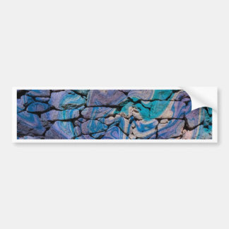Abstract Stones blue Bumper Stickers