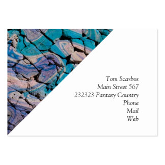 abstract stones blue business card