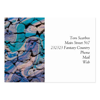 abstract stones blue business card templates
