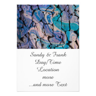 abstract stones blue invitation