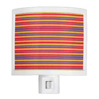 Abstract Stripes of Red Yellow and Orange Night Lights