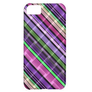 Abstract Stripes Pattern (Purple, Pink, Green) 2 iPhone 5C Cover