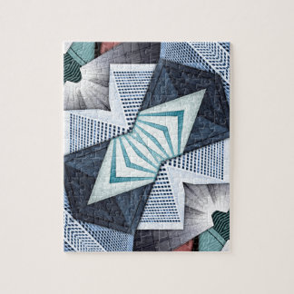 Abstract Structural Collage Jigsaw Puzzle