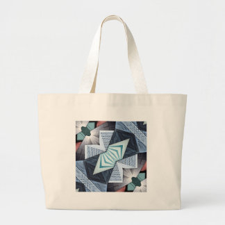 Abstract Structural Collage Large Tote Bag