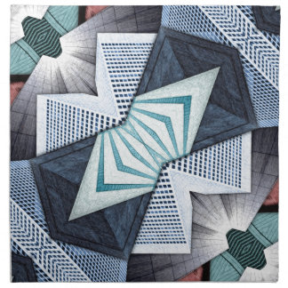 Abstract Structural Collage Napkin