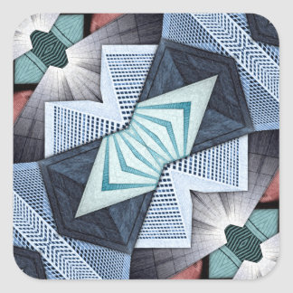 Abstract Structural Collage Square Sticker