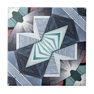 Abstract Structural Collage Tile