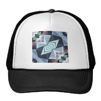 Abstract Structural Collage Trucker Hat