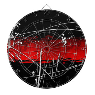 Abstract style 16 dartboard