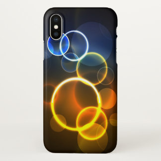 Abstract Style Modern Cool Light Circles iPhone X Case