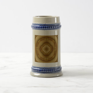 Abstract stylish wood beer steins