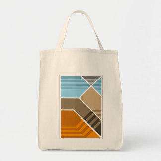 Abstract Subduction Zone Grocery Tote Bag