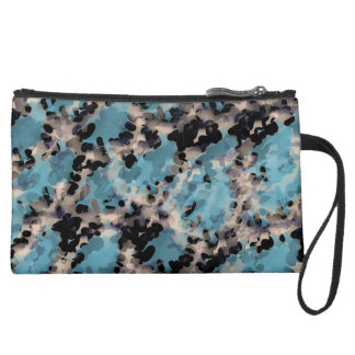 Abstract Sueded Mini Clutch