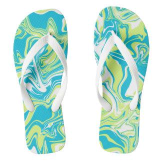 Abstract summer design. flip flops