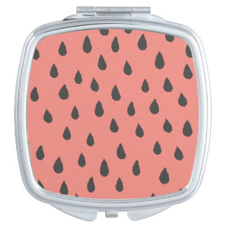 Abstract Summer Watermelon Seeds Pattern Vanity Mirror