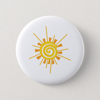Abstract Sun 2 Inch Round Button