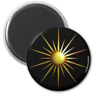 Abstract Sun 2 Inch Round Magnet