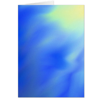 Abstract sun and sky blank greeting card