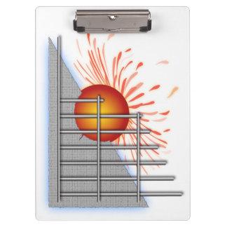 Abstract Sun Clipboard