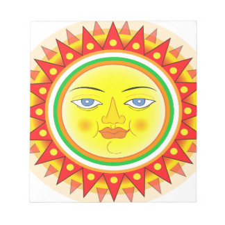 Abstract Sun Notepad