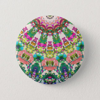 Abstract Sun Rays Mosaic 2 Inch Round Button