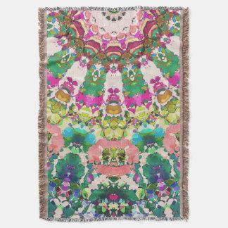 Abstract Sun Rays Mosaic Throw Blanket