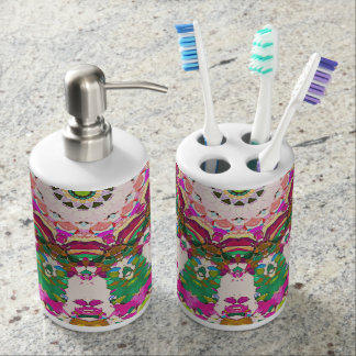 Abstract Sun Rays Mosaic Toothbrush Holder