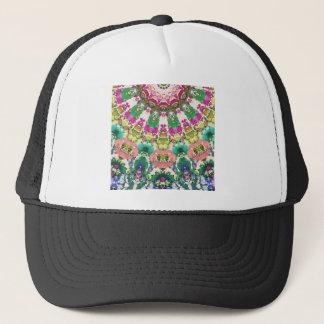 Abstract Sun Rays Mosaic Trucker Hat
