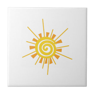 Abstract Sun Tile