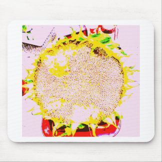 Abstract Sunflower Head Seeds Photo Design Mouse Pads
