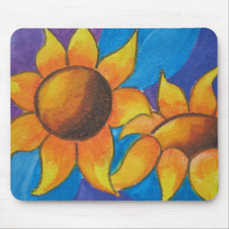 Abstract Sunflowers Painting Mousemat Mouse Pad