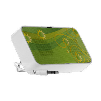 Abstract Sunflowers Portable Speaker