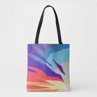 Abstract Sunset All-Over-Print Tote