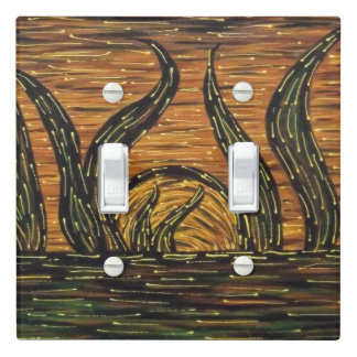 Abstract Sunset Autumn Colors Light Switch Cover