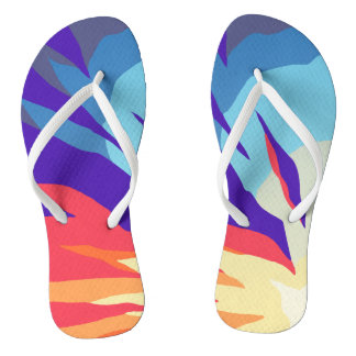 Abstract Sunset Flip Flops
