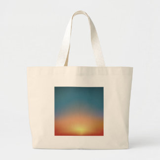 Abstract Sunset Large Tote Bag
