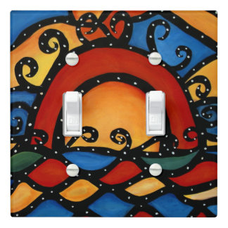 Abstract Sunset Light Switch Cover